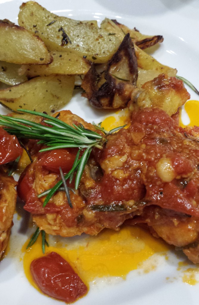 Pollo Cacciatore, or Hunter's Style Chicken.