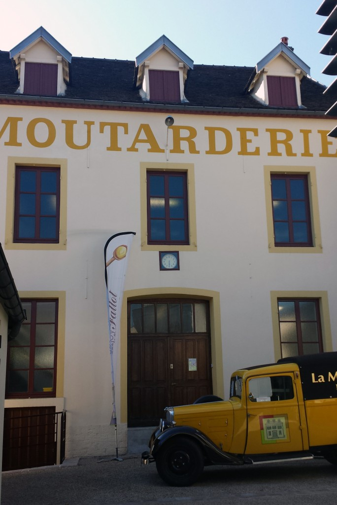 Entrance to La Moutarderie Fallot gourmet mustard mill