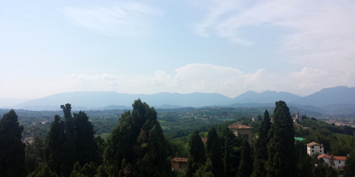 View of the Veneto region from the top of the tower.