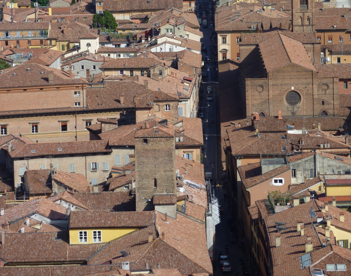 Bologna Italy's Red Terracotta Roofs