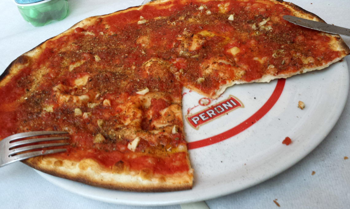Marinara Pizza in Todi Italy