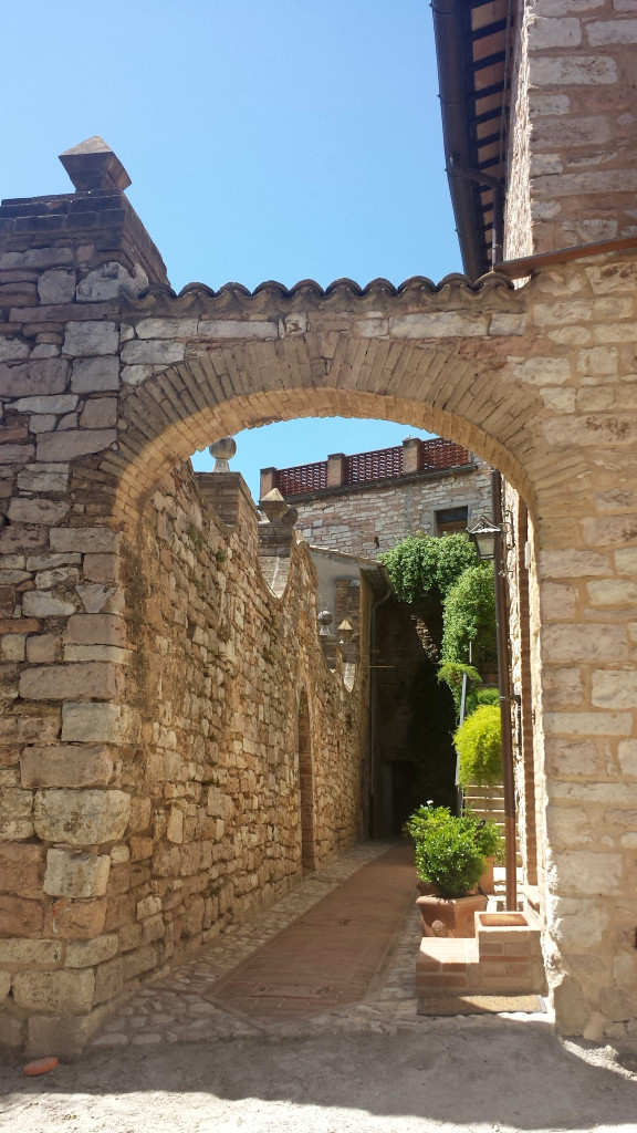Umbria's Medieval Hilltop Town Spello Italy's labyrinth of stone houses.